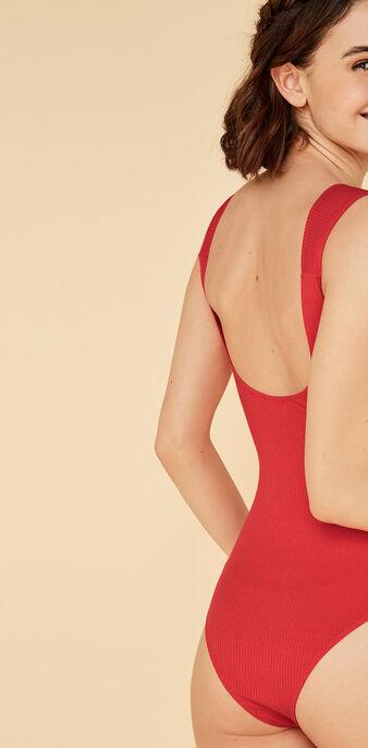 Knotiz red bodysuit red.