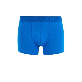 Plain organic cotton boxers royal blue.