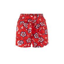 Redfloweriz red shorts red.