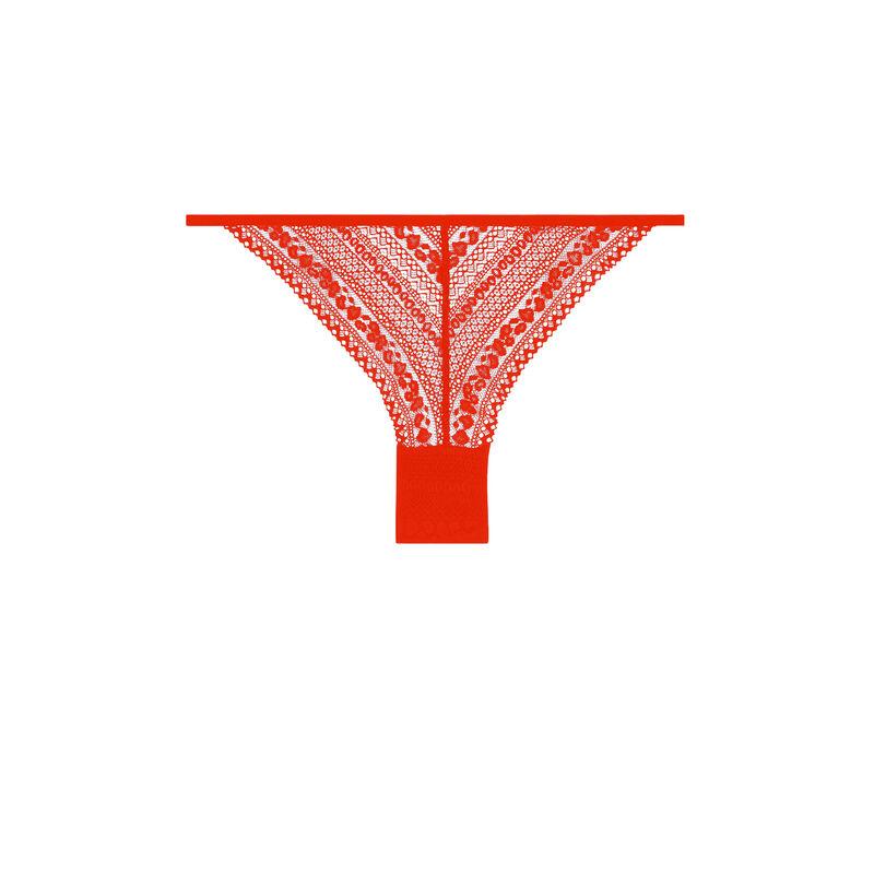 lace briefs with fancy edges - orange;