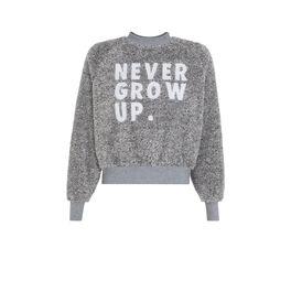Graues sweatshirt nevergrowiz szary.