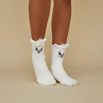 Supermariz white socks white.
