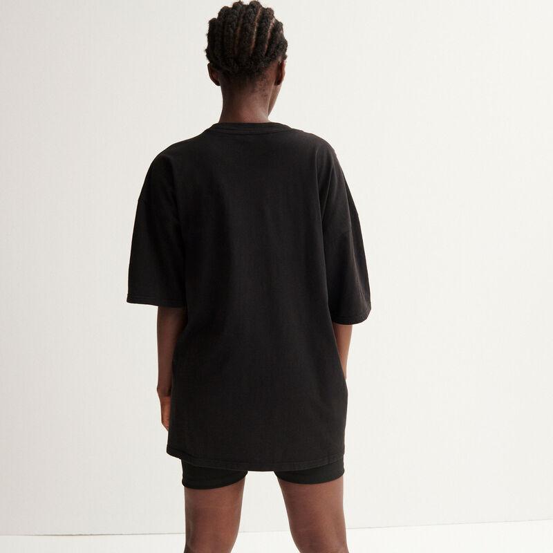 Aya x undiz oversize top - black;
