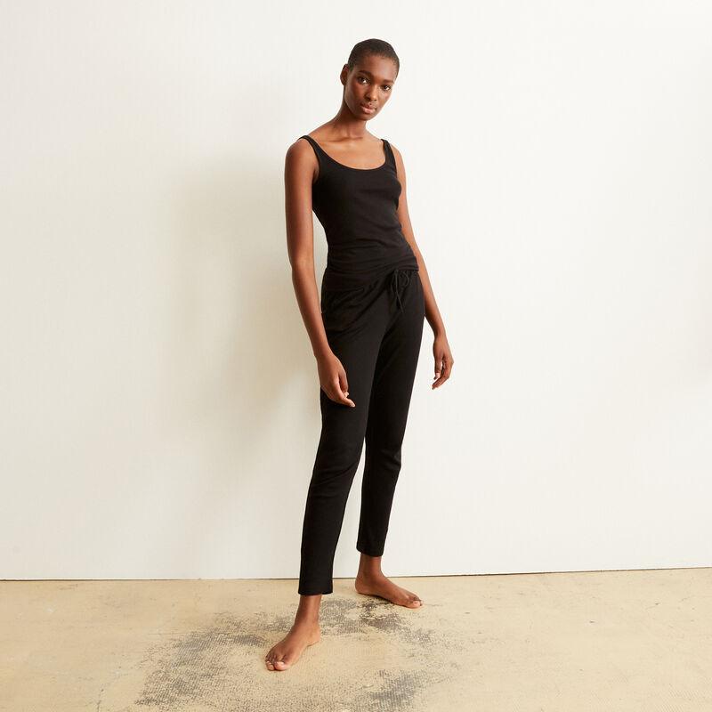 jersey trousers - black ;