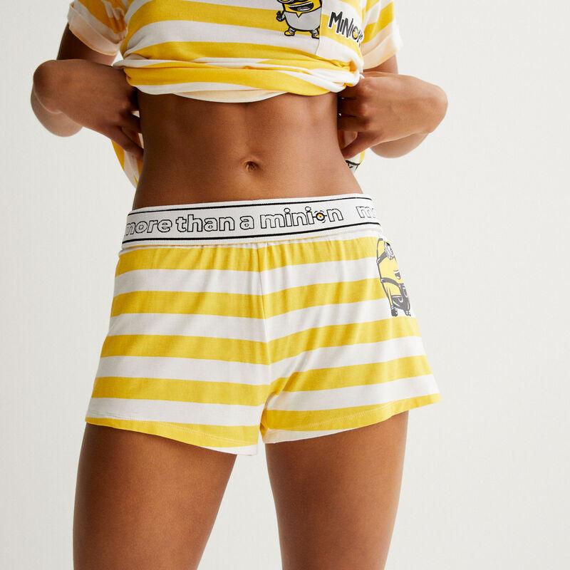 Minions striped shorts - yellow;