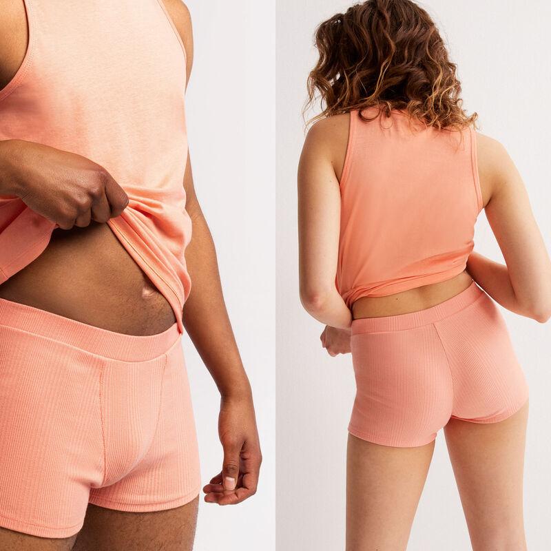 Plain jersey unisex shorts - peach;