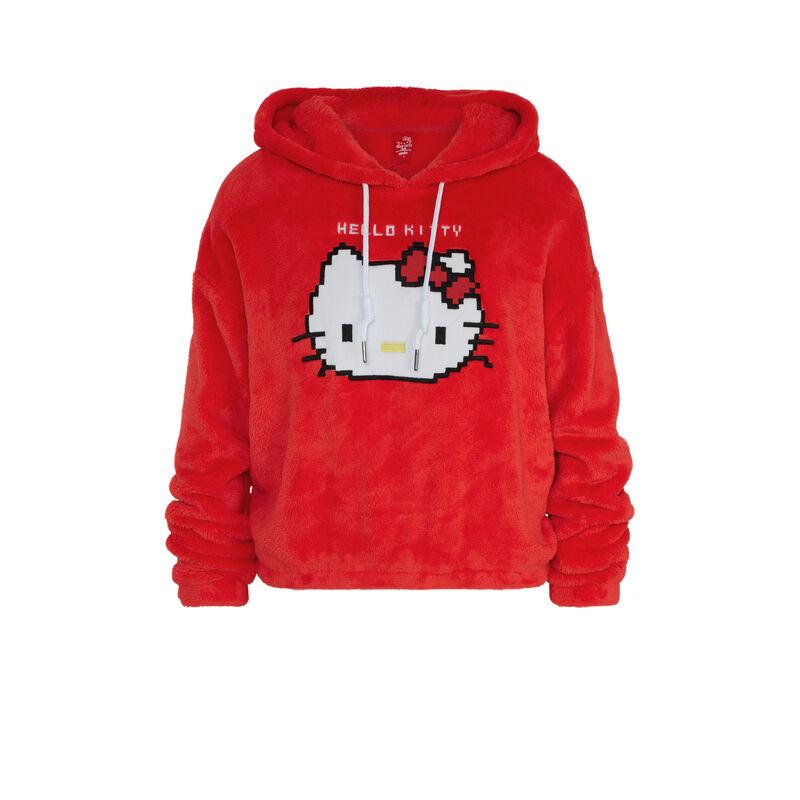 Bluza polarowa z kapturem nadruk Hello Kitty hellokittiz;