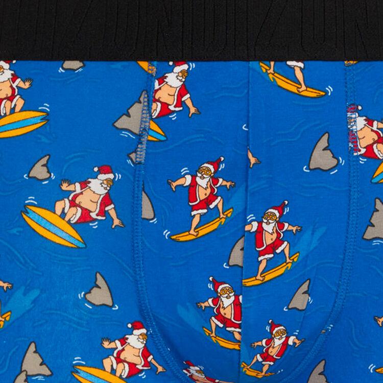 santasurfiz printed cotton boxer shorts;