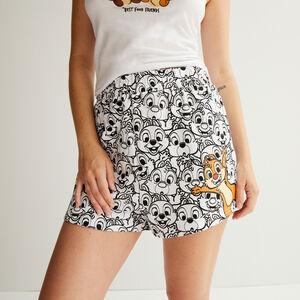 Chip 'n' Dale print shorts - white