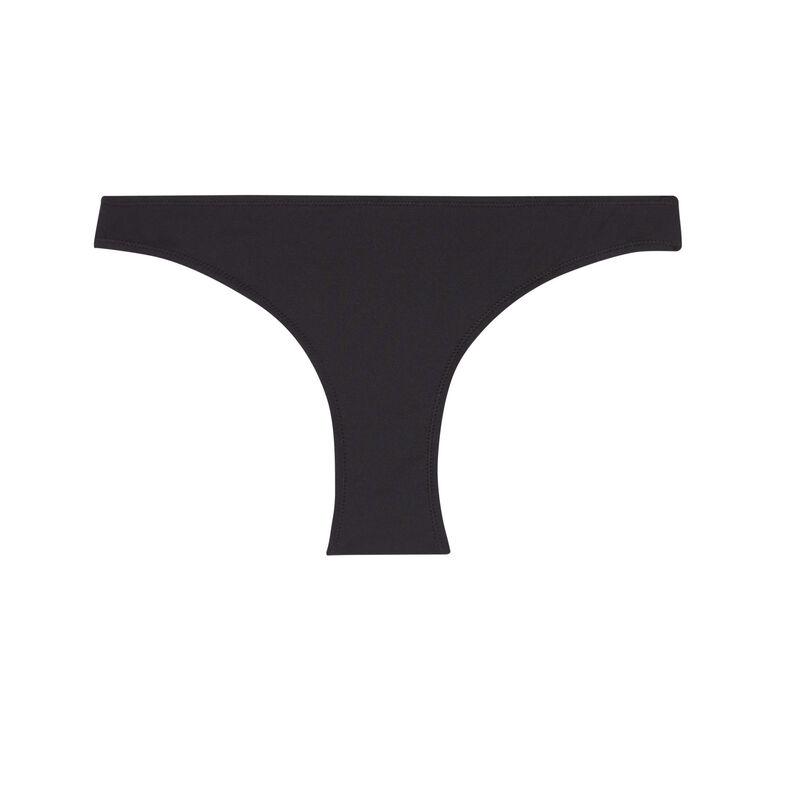 однотонные закрытые купальные трусики - черный;