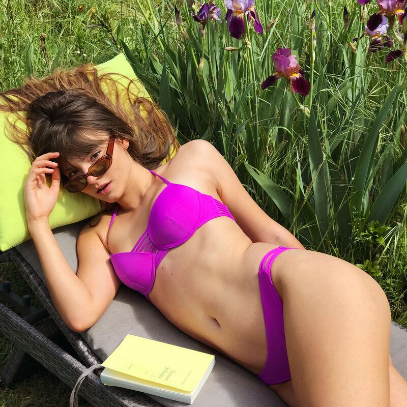 Push-up bikini top - fuchsia purple;