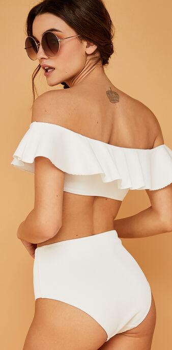 Sabliz white bikini top white.