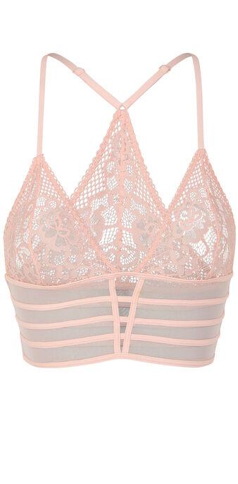 Бледно-розовый бюстгальтер с треугольными чашками avriliz  pink.