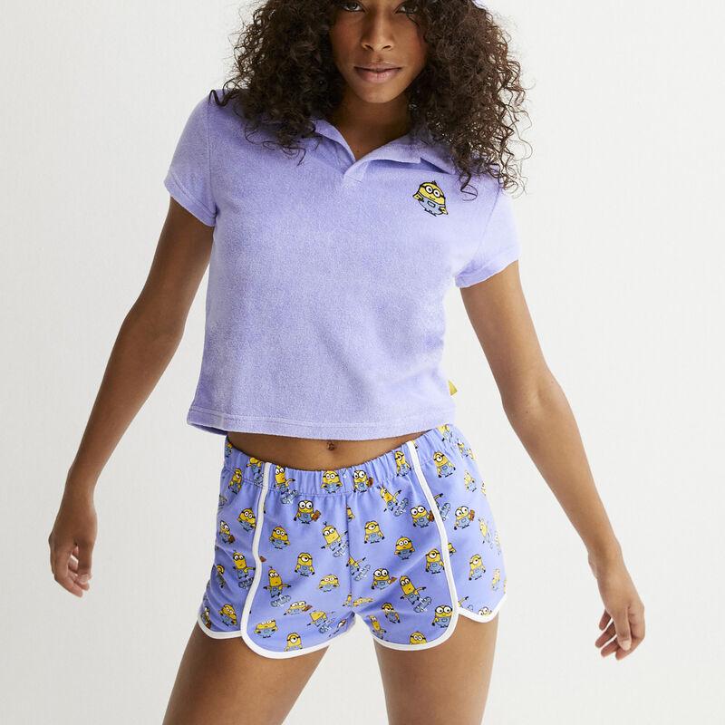 Skating Miinions patterned shorts - blue;