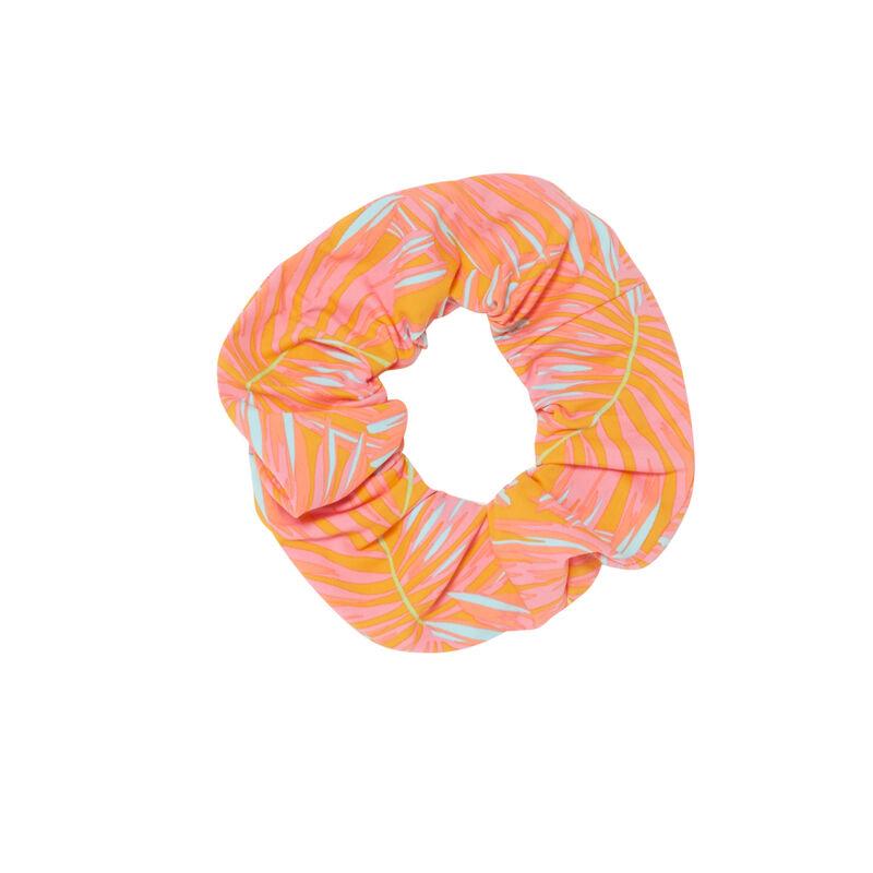 exotic print scrunchie - orange;