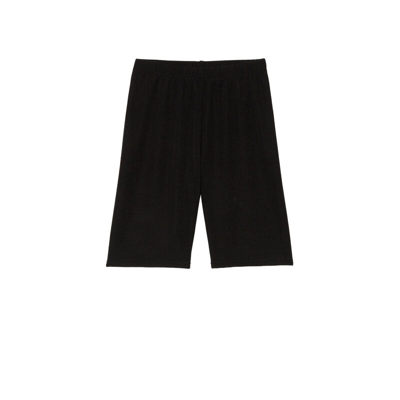 Mid-length cycling shorts - black;