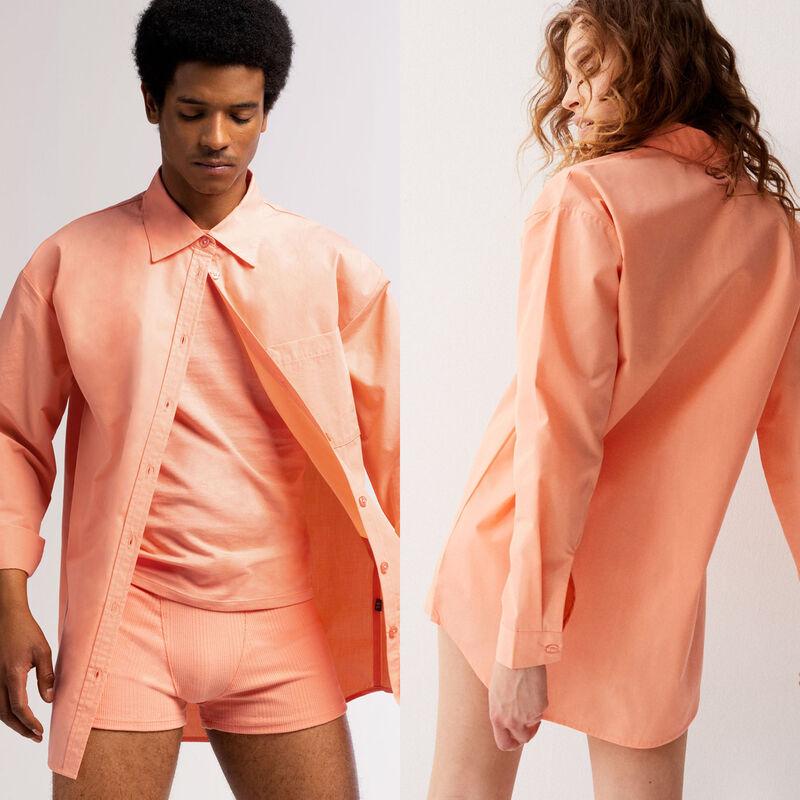 рубашка унисекс - персиковый;
