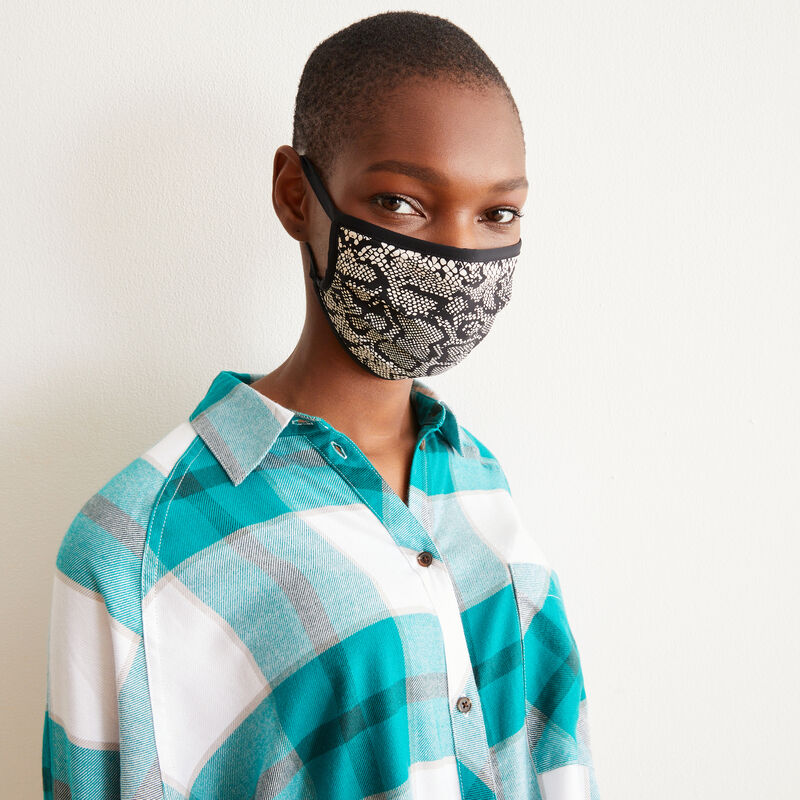 snakeskin look mask - black;