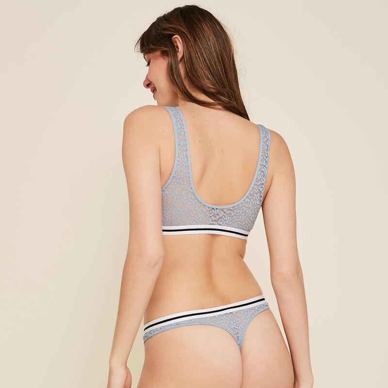 Secretz leopiz blue grey bra;