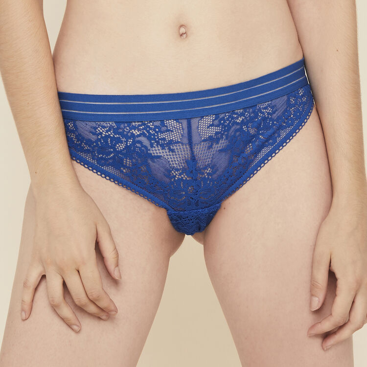 Coolgirliz lace tanga briefs with band detailing;