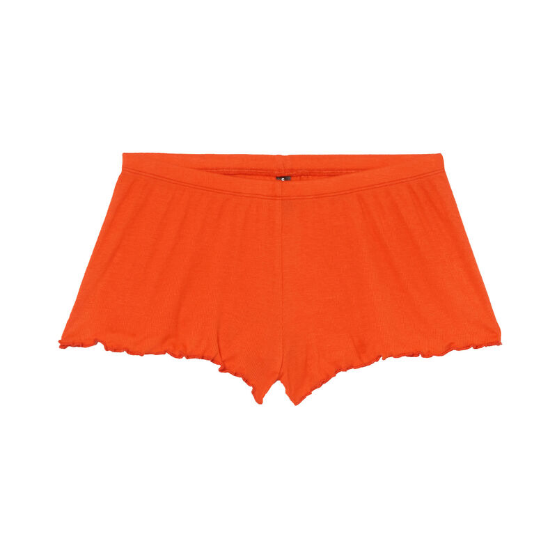 high-cut shorts - red;