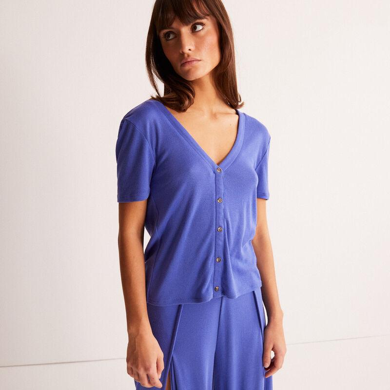 Short-sleeved top - purple;