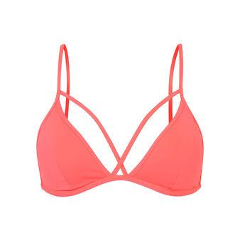 Флуоресцентно-розовый верх купальника abricotiz pink.