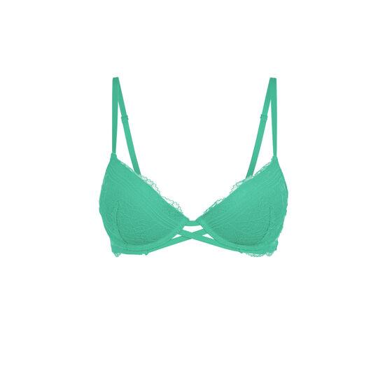 Everydayiz peacock green push-up bra;