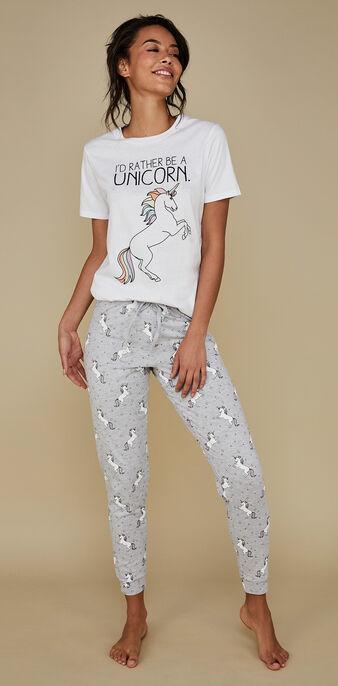 Set pyjama blanc gangorniz white.