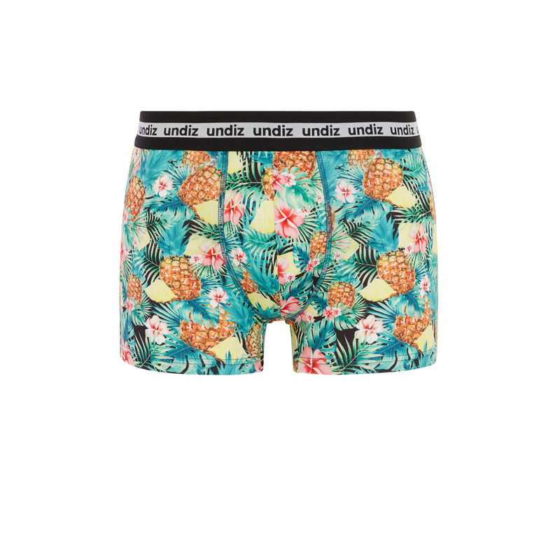 Tropical print boxers - green;