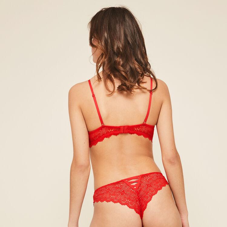 Mahaliz red push-up bustier bra;