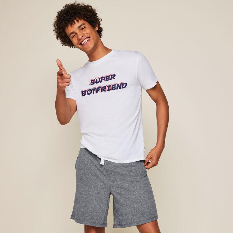 Раздельная пижама с надписью superboyiz;