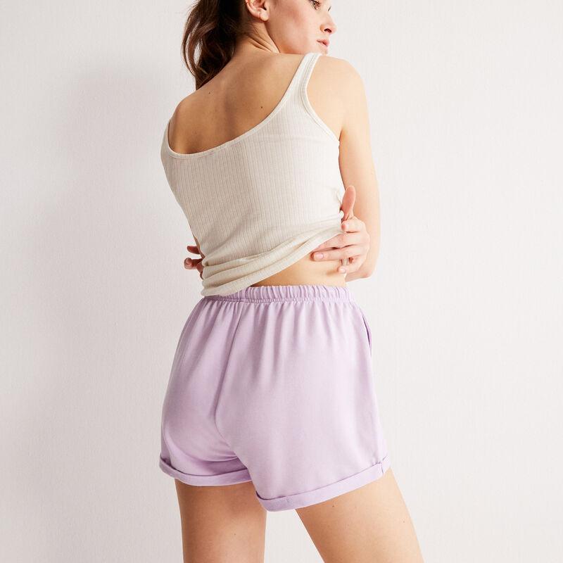 plain shorts with drawstring detail - lilac;