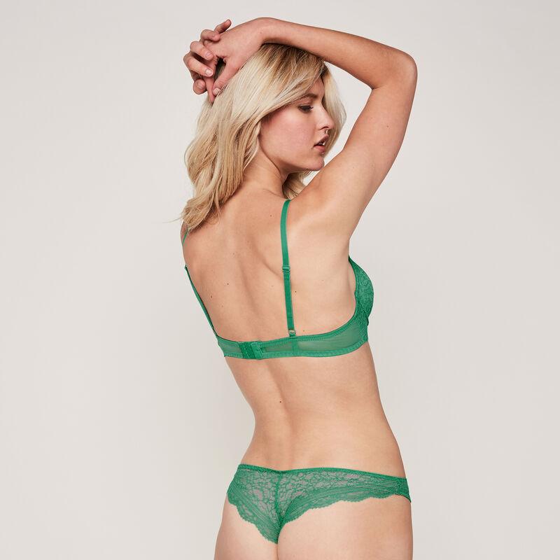 EVERYDAYIZ emerald-green PUSH-UP BRA;