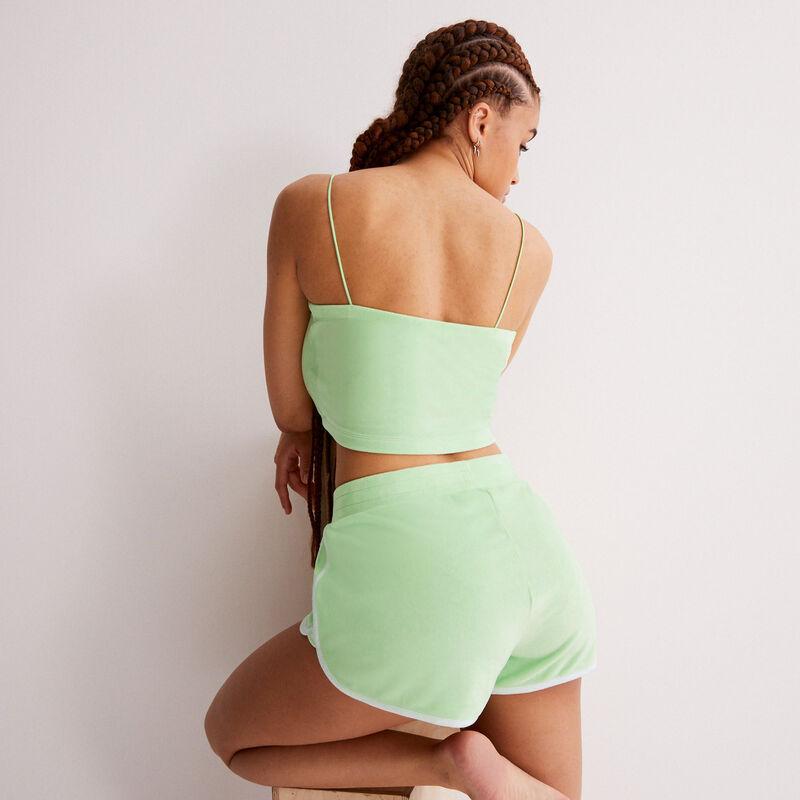 Vvelvet shorts - green;