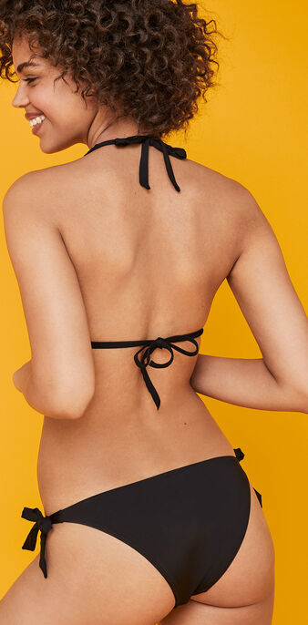 Brotressiz black triangle bikini top black.