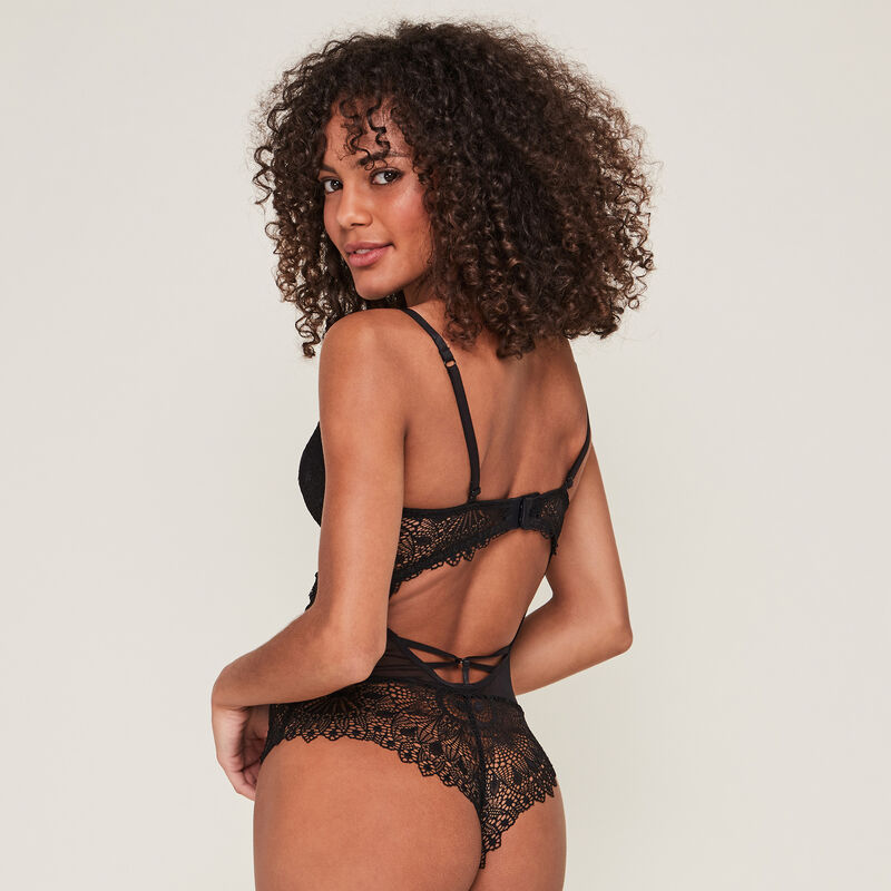 meloschiz lace push-up body with jewel detail;