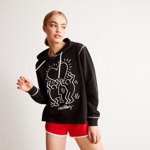 Keith Haring heart pattern sweatshirt - black