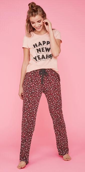 Ensemble de pyjama rose happyniz pink.