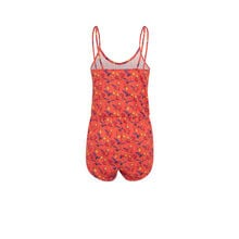 Iagiz coral playsuit red.