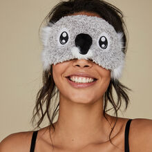 Thekoaliz grey sleep mask grey.