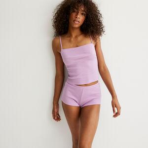 однотонный пижамный комплект - лиловый