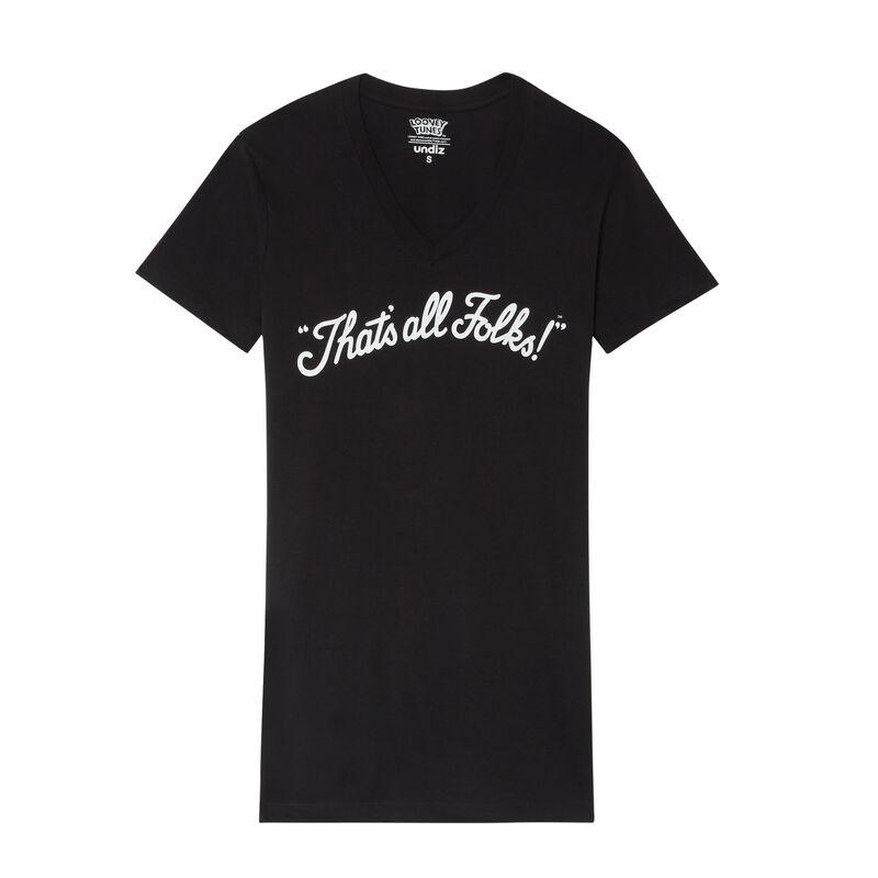 That's All Folks printed tunic - black;