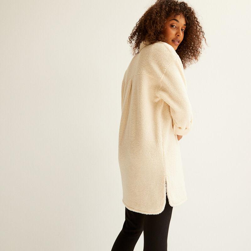 oversized loop jacket - cream;