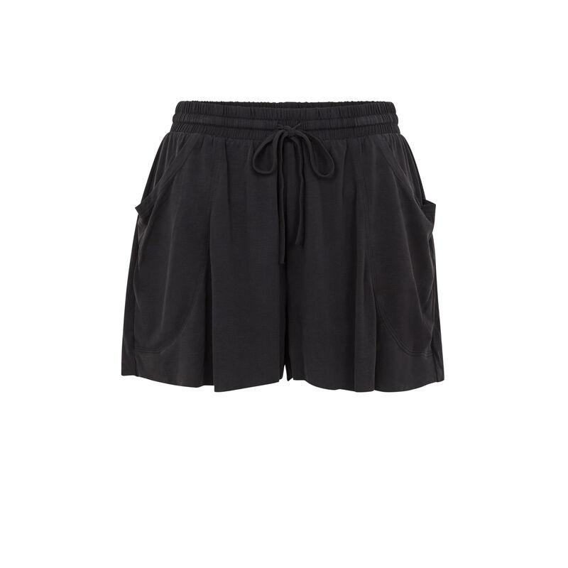 Струящиеся однотонные шорты - черный;