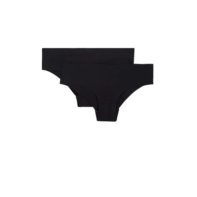 szorty z mikrofibry — kolor czarny;