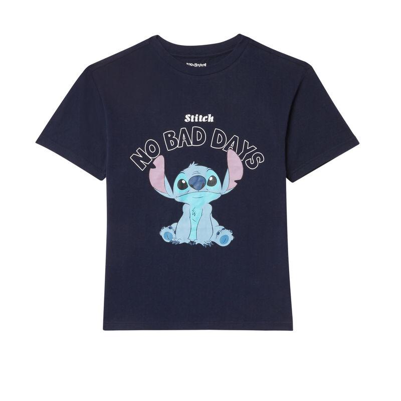 'no bad days' stitch top - navy blue;