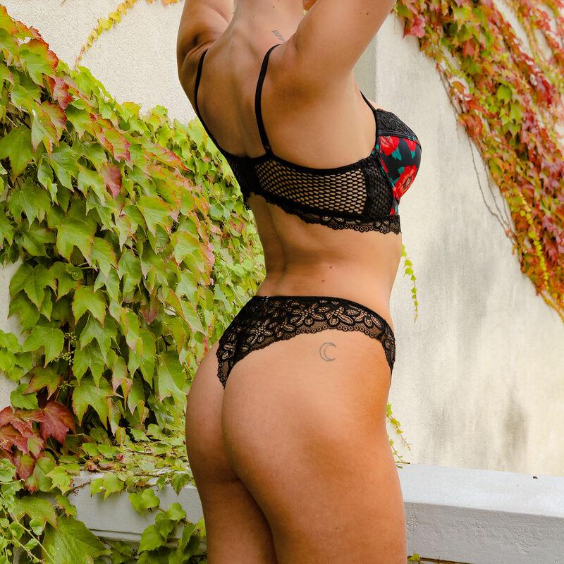 Padded bustier bra - black;