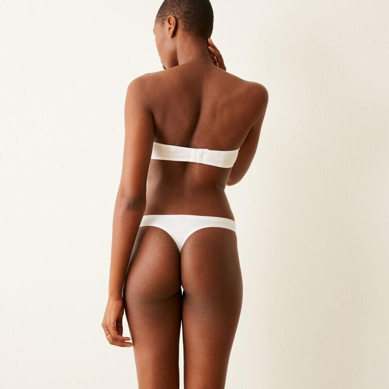 Pack of white Micro thongs;