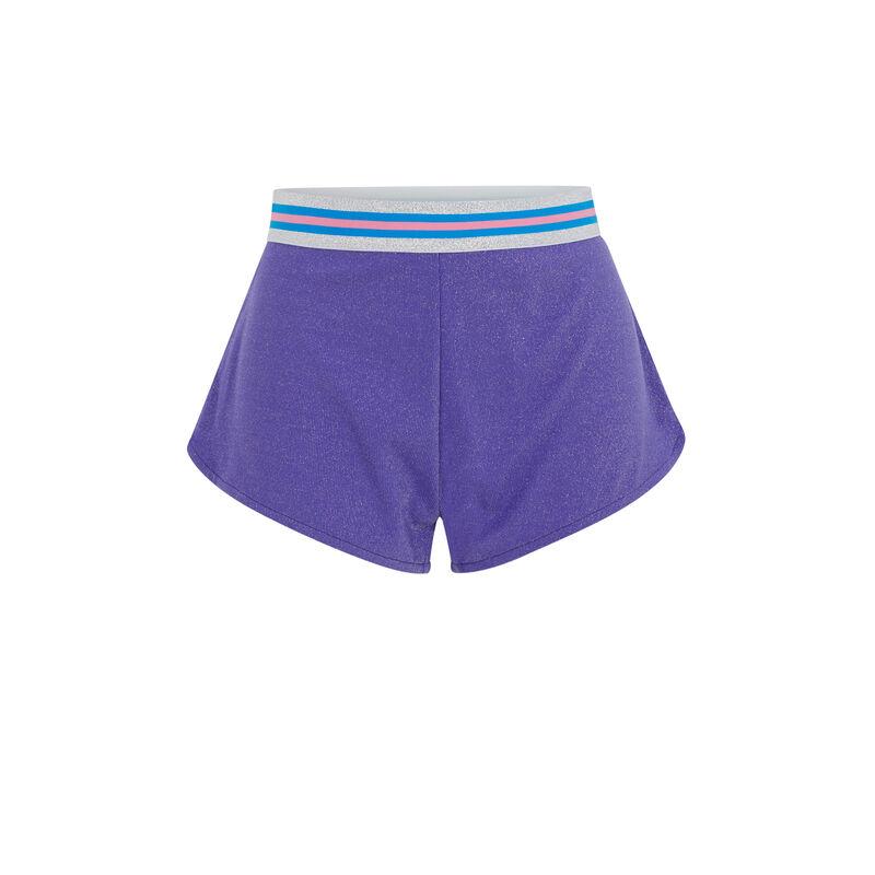 Короткие шорты с ремнем - фиолетовый;